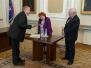 Uroczystość wręczenia księgi pamiątkowej profesorom Marii i Bogdanowi Składankom, 28.04.2009